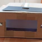 Vorderansicht der Negativ-Box ohne Schablone